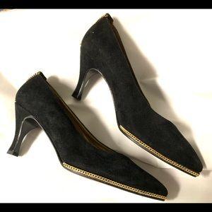 Stuart Weitzman Black Suede Shoes 5.5